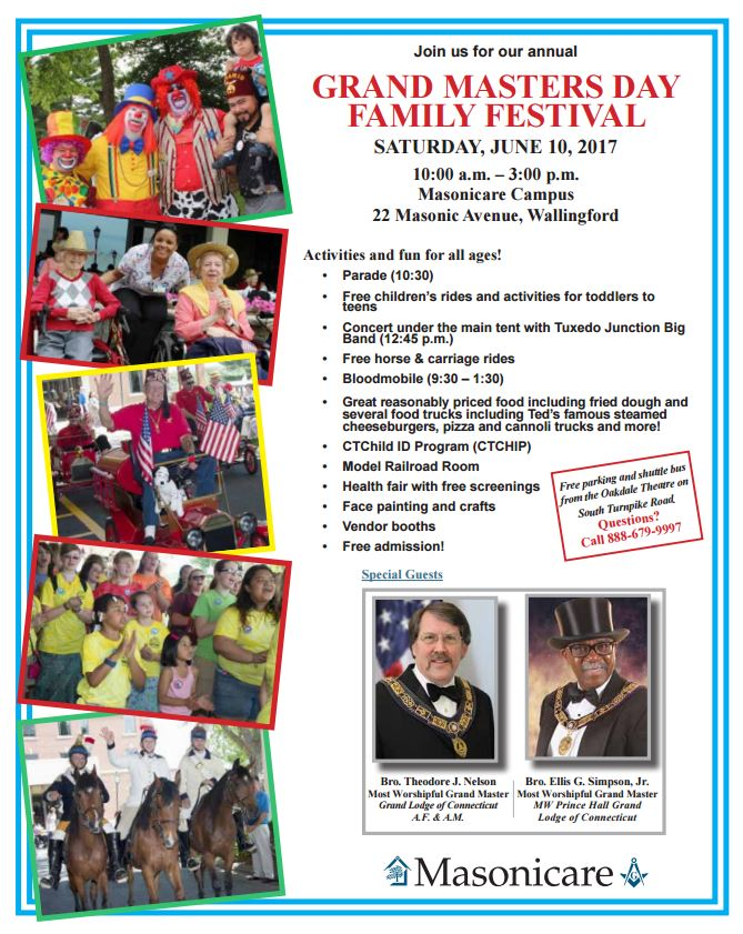 GRAND MASTERS DAY FAMILY FESTIVAL 2017 @ Masonicare Campus | Wallingford | Connecticut | United States