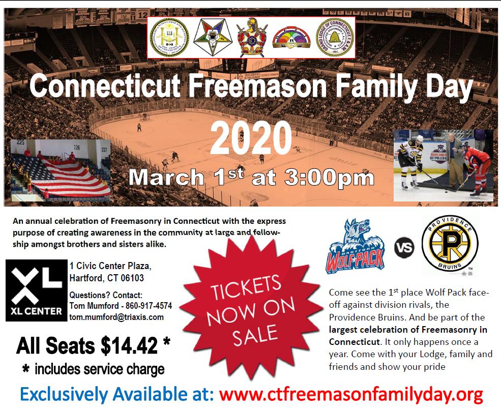 Connecticut Freemason Family Day 2020 @ XL Center